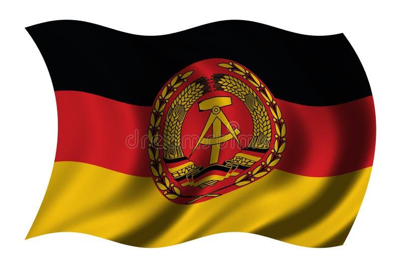 östlig flagga germany vektor illustrationer