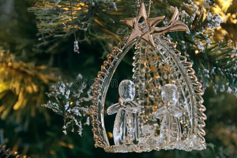 ÖSTLIG GRINSTEAD, VÄSTRA SUSSEX/UK - DECEMBER 20: Julgran De arkivbilder