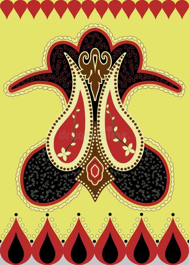östlig indier för asiatisk design stock illustrationer