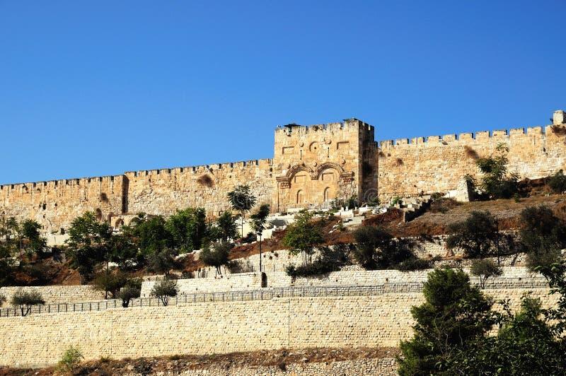 östlig jerusalem för stad gammal vägg arkivfoto