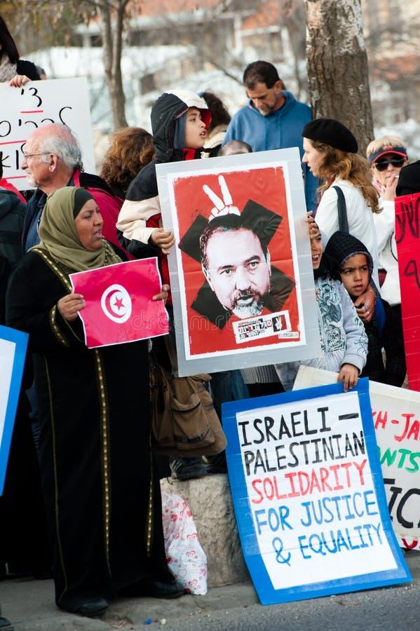 östlig jerusalem protest royaltyfri foto