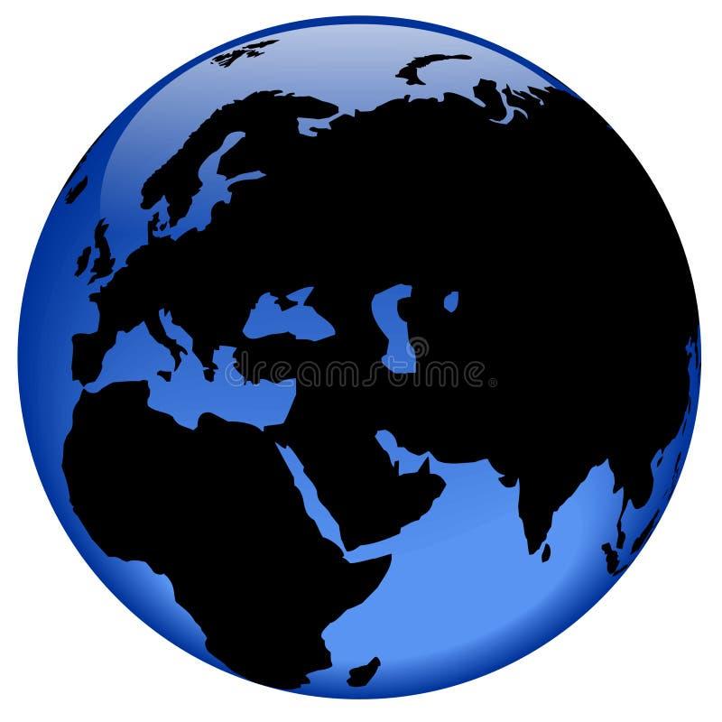 östlig jordklotmittsikt vektor illustrationer