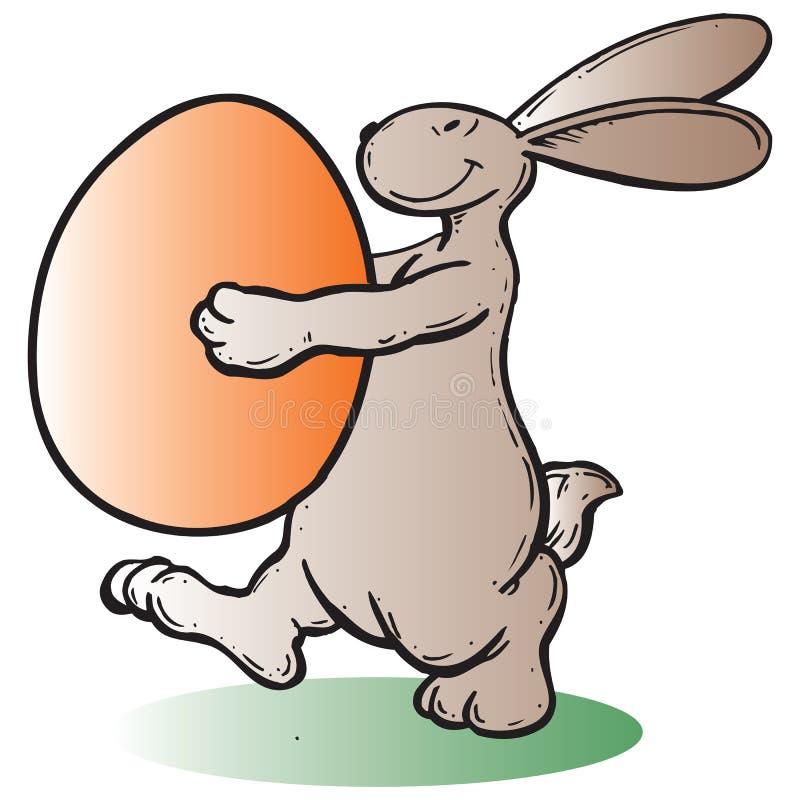 östlig kanin stock illustrationer