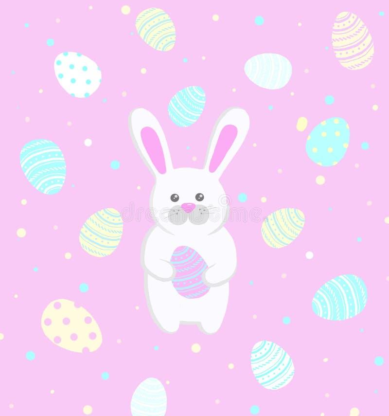 Östlig kanin på en rosa bakgrund arkivfoton