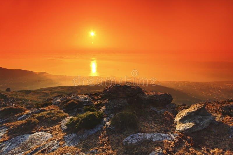 Östlig kust av den Korsika ön royaltyfria bilder