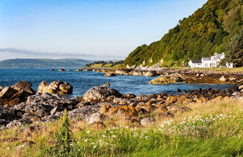 Östlig kust av nordligt - Irland arkivbild
