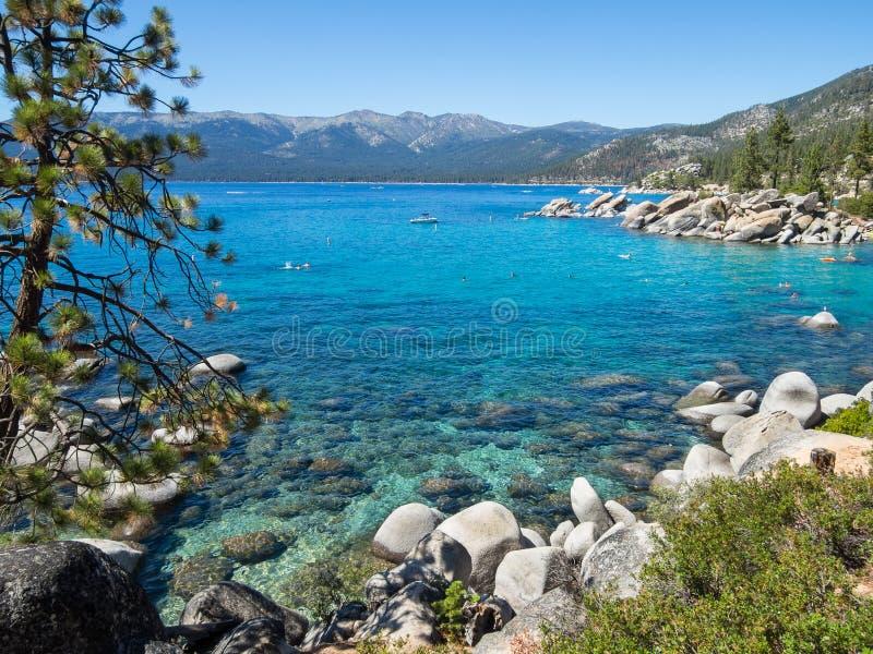 Östlig kust, Lake Tahoe royaltyfria bilder