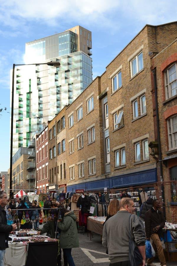 Östlig London marknad royaltyfria bilder