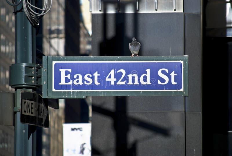 Östlig 42nd St royaltyfri foto