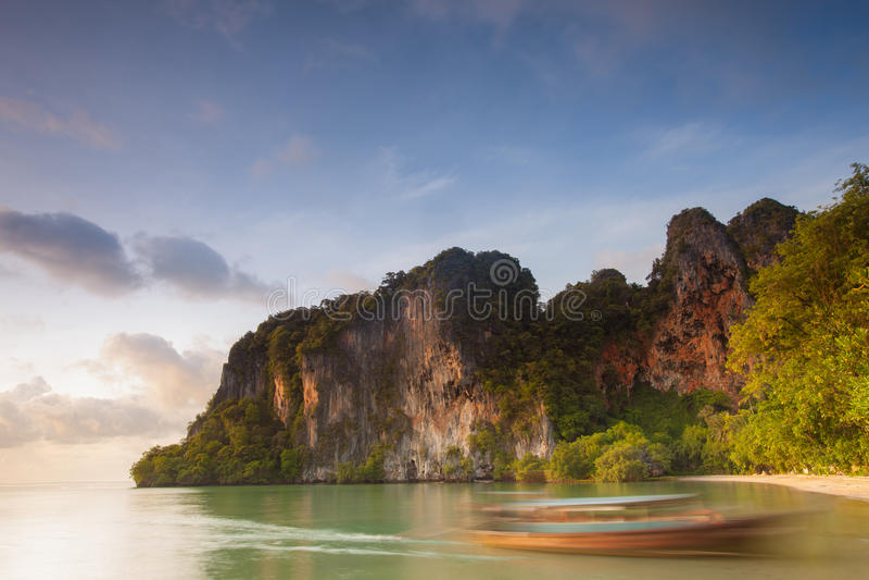 Östlig Railay strand, Thailand arkivfoto