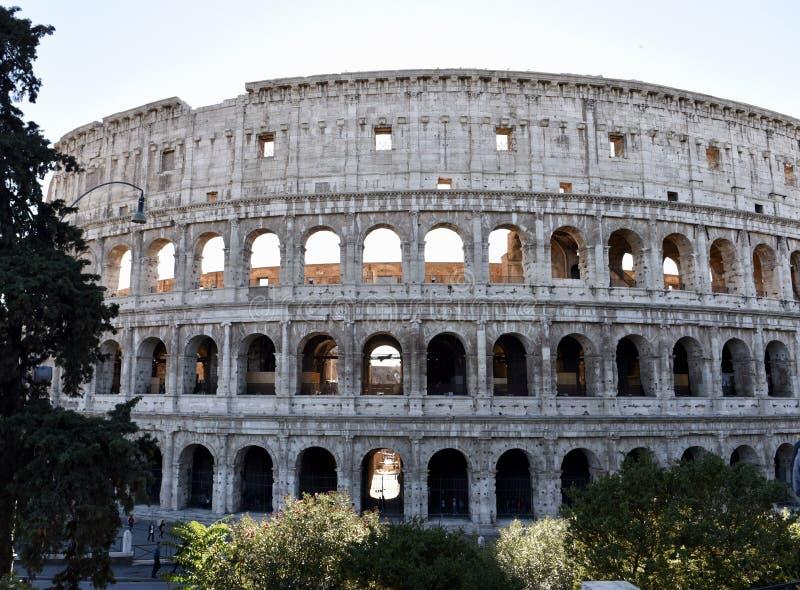 Östlig sida av Roman Colosseum royaltyfria foton