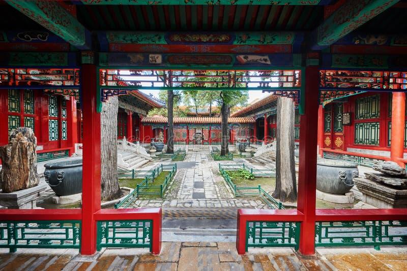 Östlig slottForbidden City Peking Kina royaltyfri foto