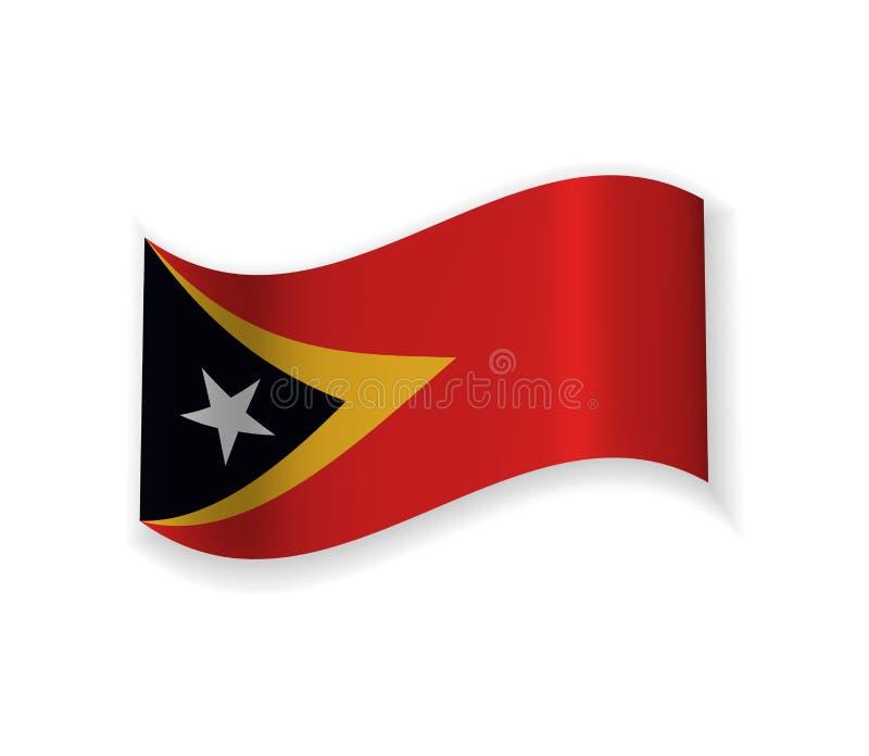 Östtimor flagga vektor illustrationer