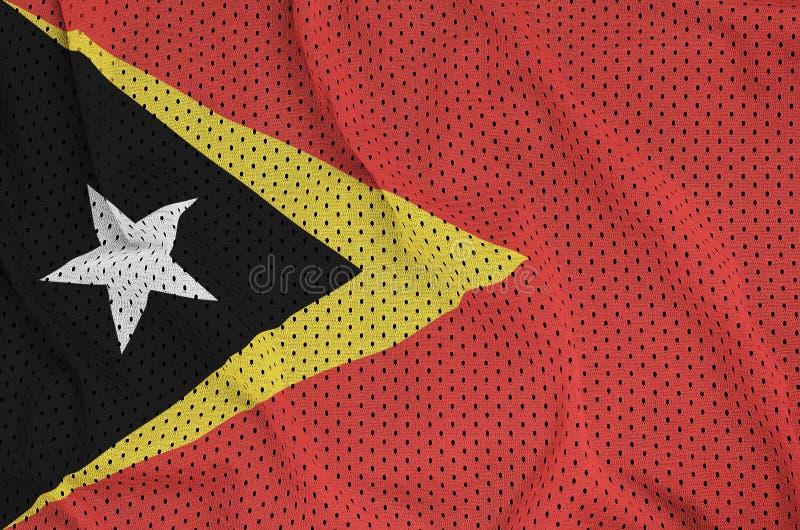 Östtimor flagga som skrivs ut på en fa för ingrepp för polyesternylonsportswear royaltyfri foto