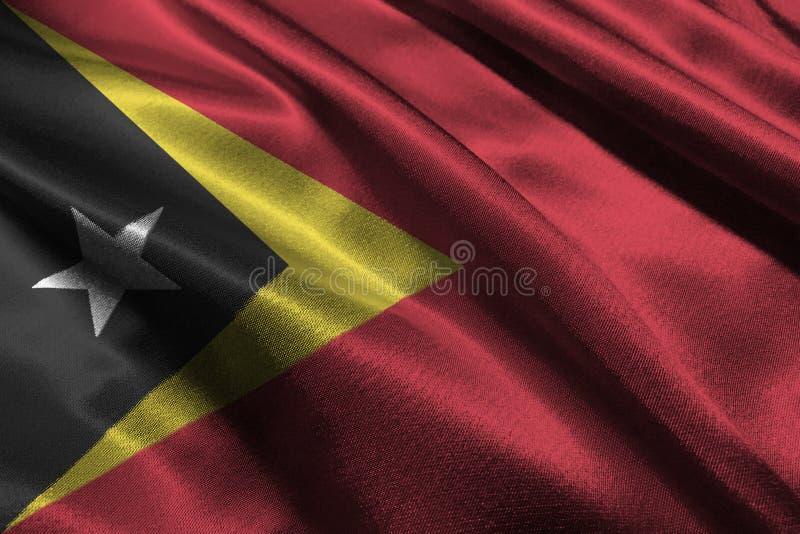 Östtimor flagga, symbol för illustration för nationsflagga 3D för 3D Östtimor royaltyfri illustrationer