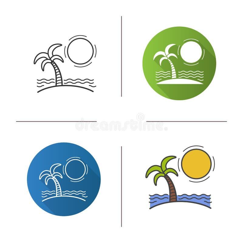 Ösymbol stock illustrationer