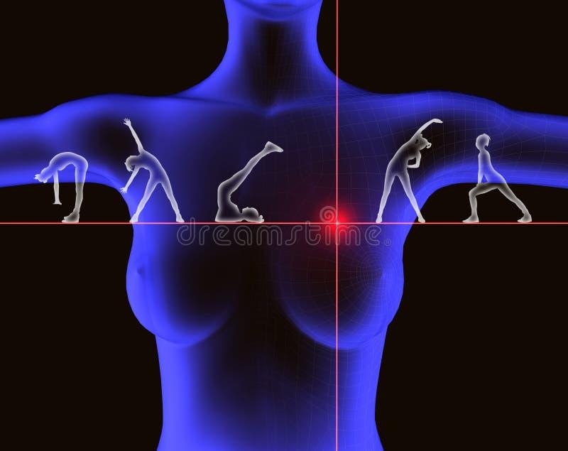 öva hälsa vektor illustrationer