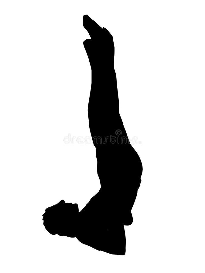 övande yogabarn för man stock illustrationer