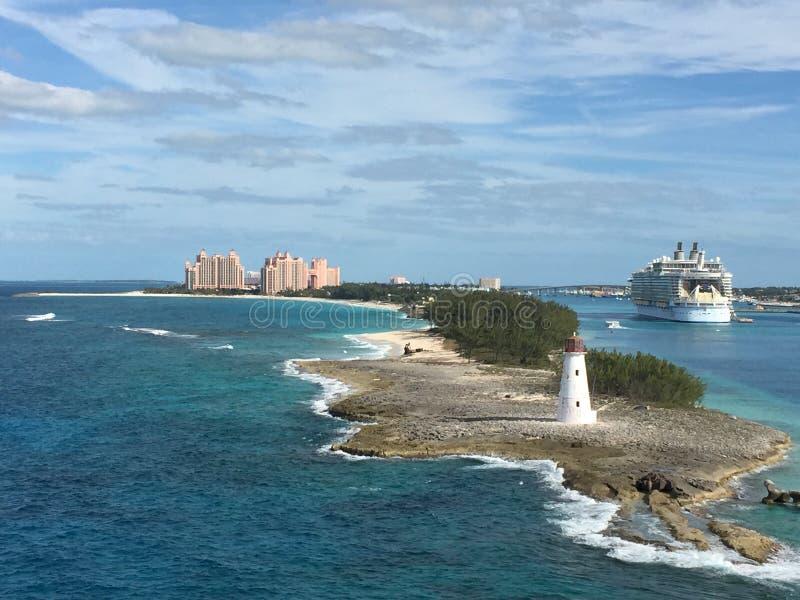 Övattensikt San Juan fotografering för bildbyråer