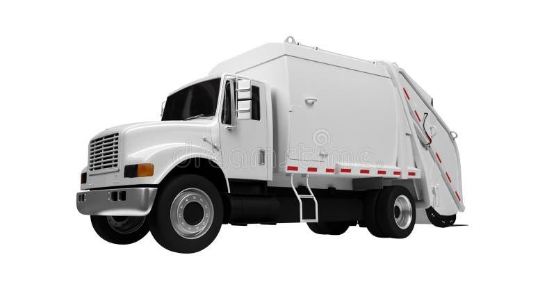 över avfalllastbilwhite vektor illustrationer