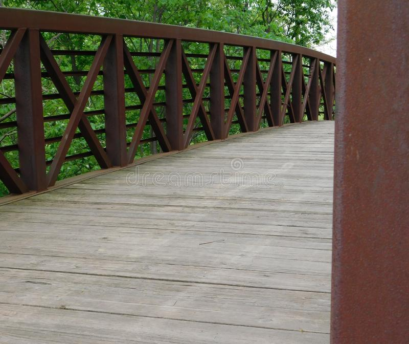 Över bron arkivfoton
