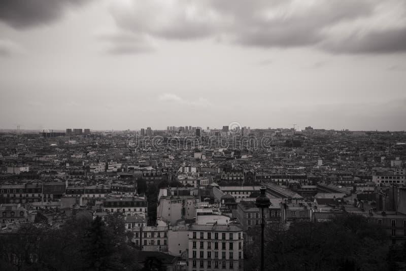 över den paris sikten fotografering för bildbyråer