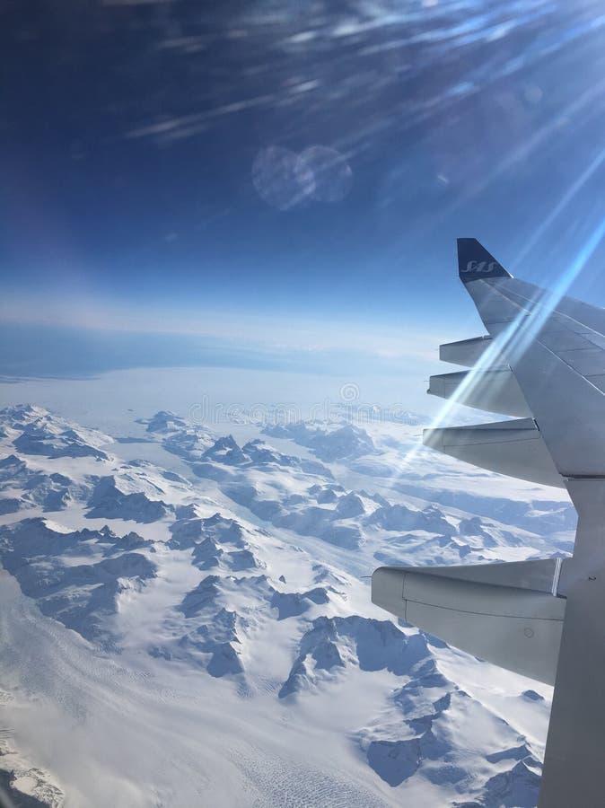 Över Grönland royaltyfri foto