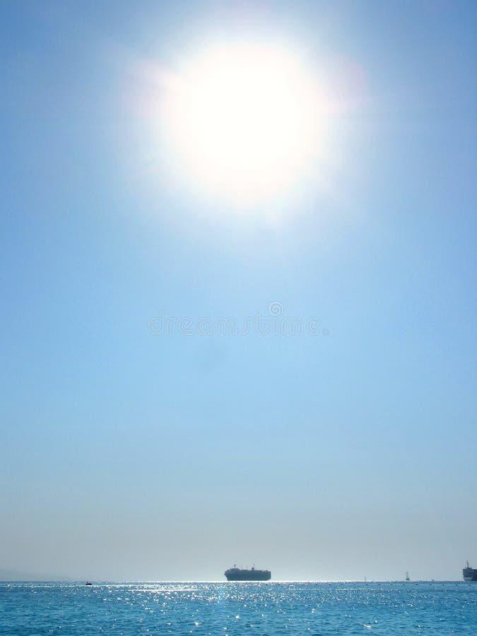 över havssunen royaltyfri fotografi