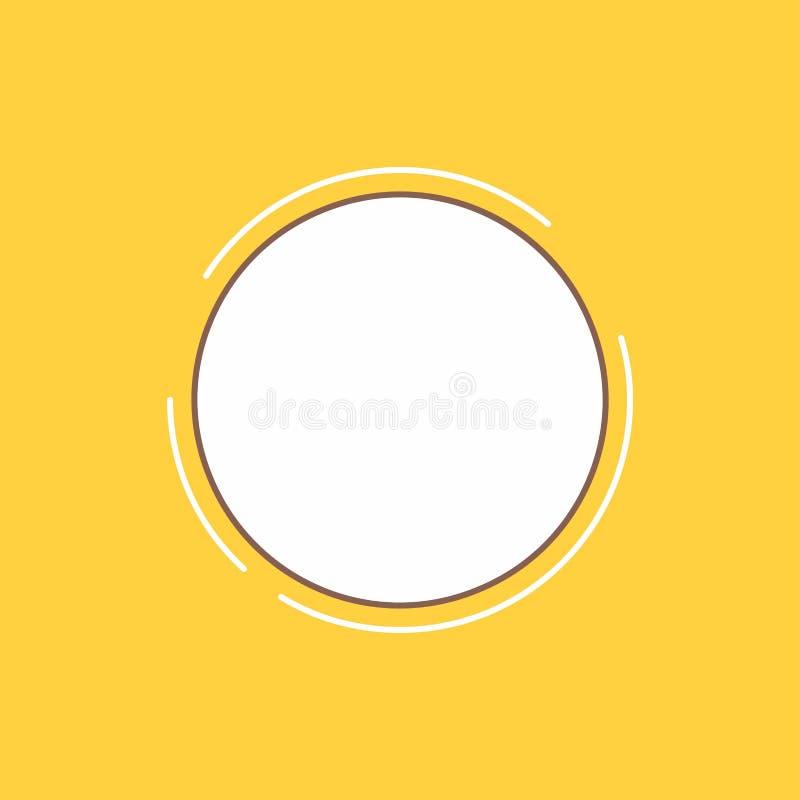 över hela världen fyllde kommunikationen, anslutning, internet, plan linje för nätverk symbolen H?rlig logoknapp ?ver gul bakgrun stock illustrationer