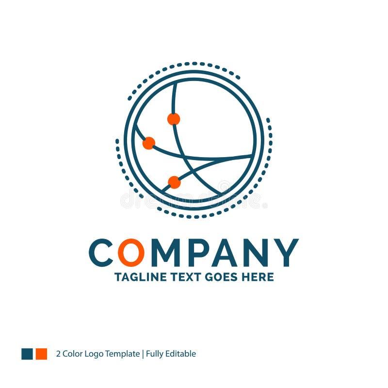 över hela världen kommunikation, anslutning, internet, nätverk Logo Des stock illustrationer
