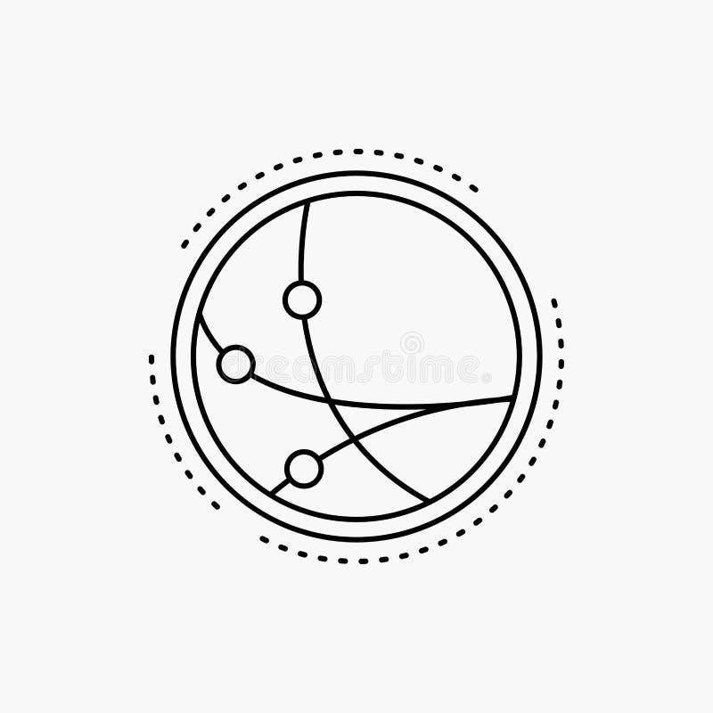 över hela världen kommunikation, anslutning, internet, nätverkslinje symbol Vektor isolerad illustration royaltyfri illustrationer