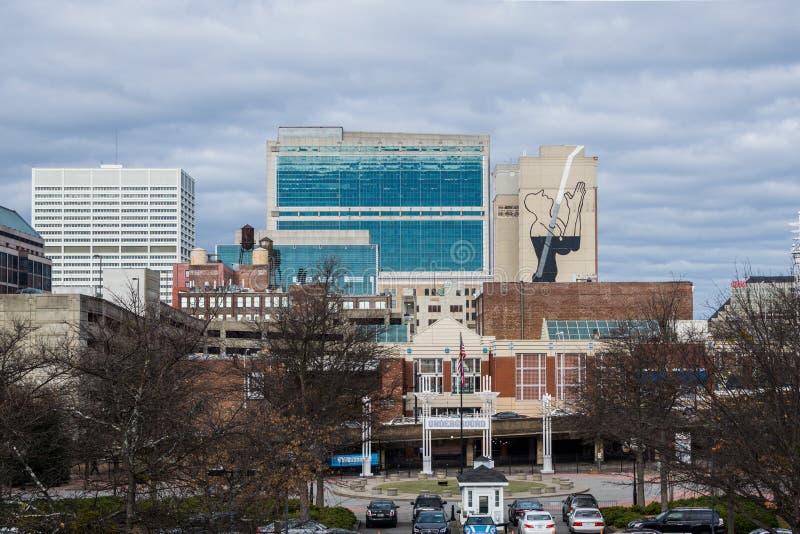 Över Rhenområdet i i stadens centrum Cincinnati Ohio i washen royaltyfria foton