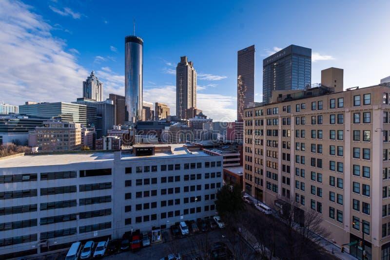 Över Rhenområdet i i stadens centrum Cincinnati Ohio i washen royaltyfria bilder