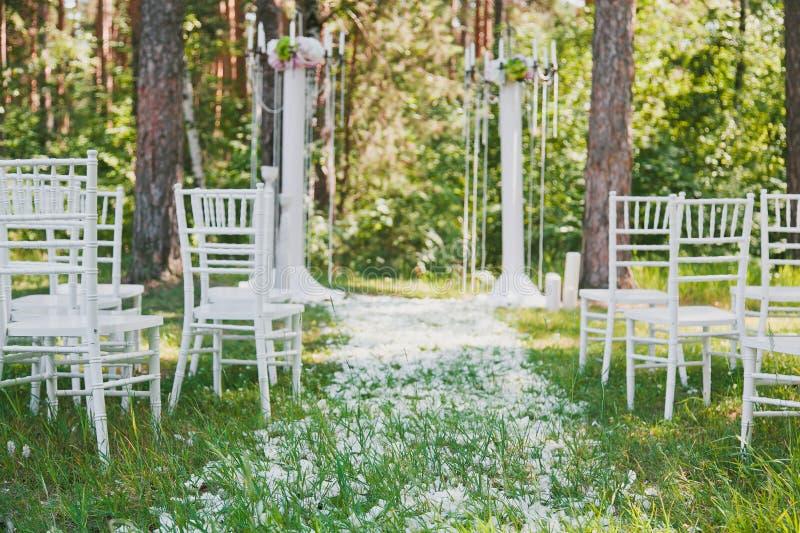 Överblick för bröllopmottagande royaltyfri bild