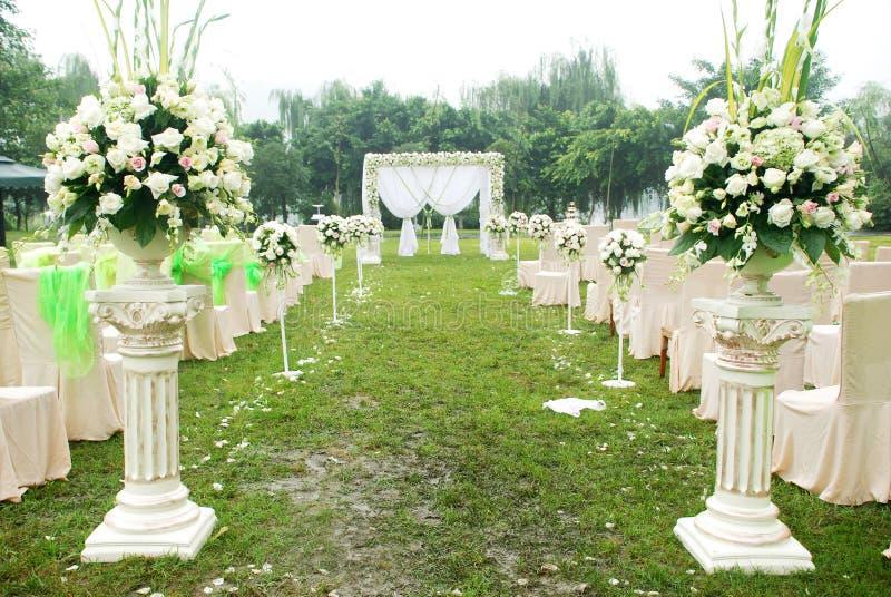 överblickmottagandebröllop royaltyfri fotografi