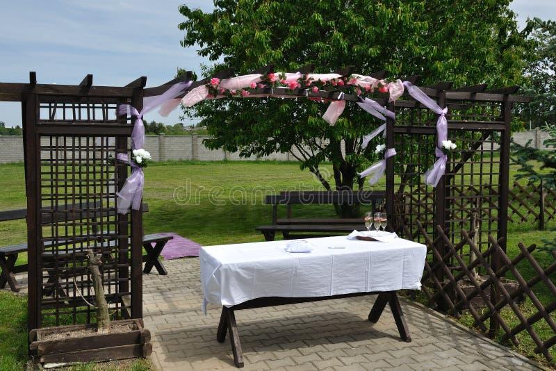 överblickmottagandebröllop arkivbild