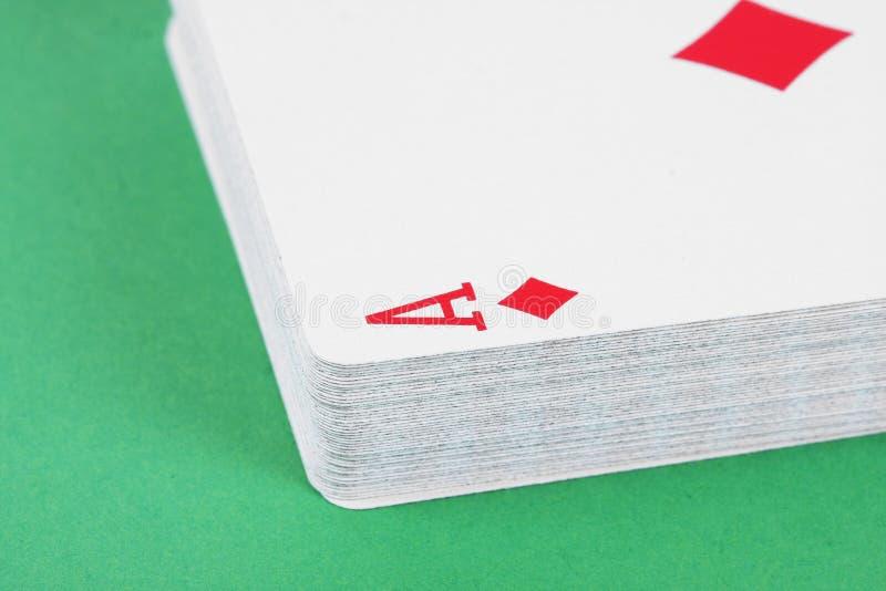 överdängaren cards att leka för detaljdiamant arkivfoton