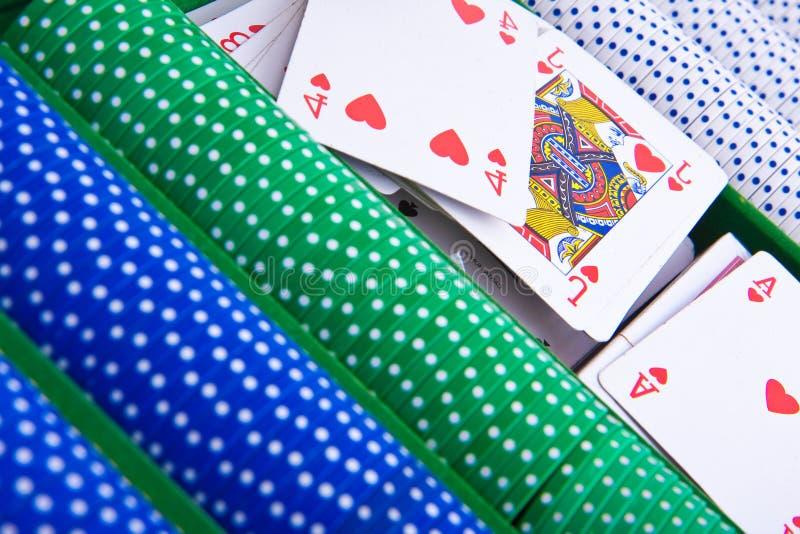 överdängaren chips poker arkivbilder