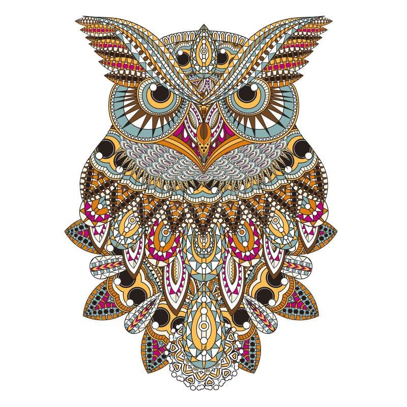 Överdådig uggla royaltyfri illustrationer