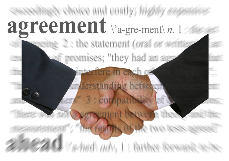överenskommelse arkivbilder