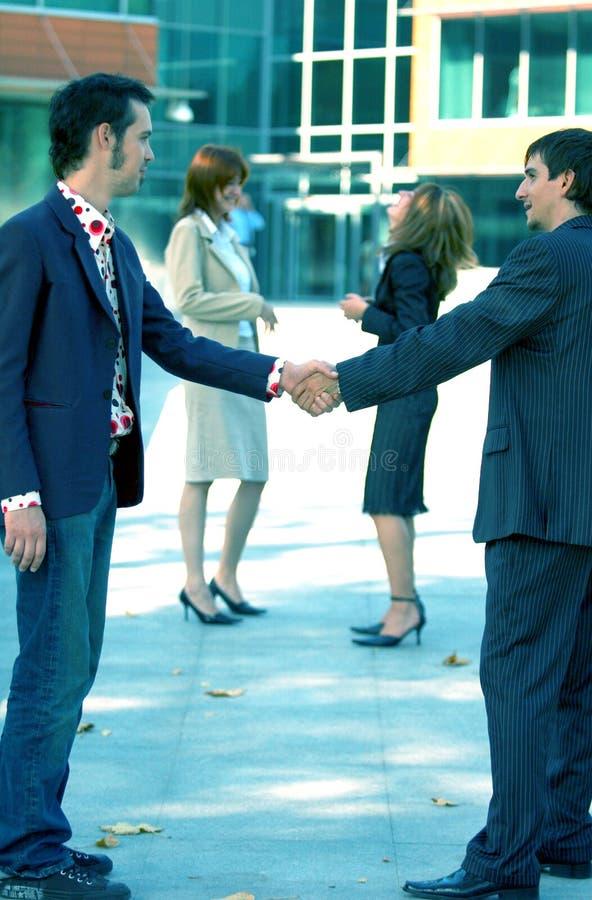 överenskommelseaffär royaltyfria bilder