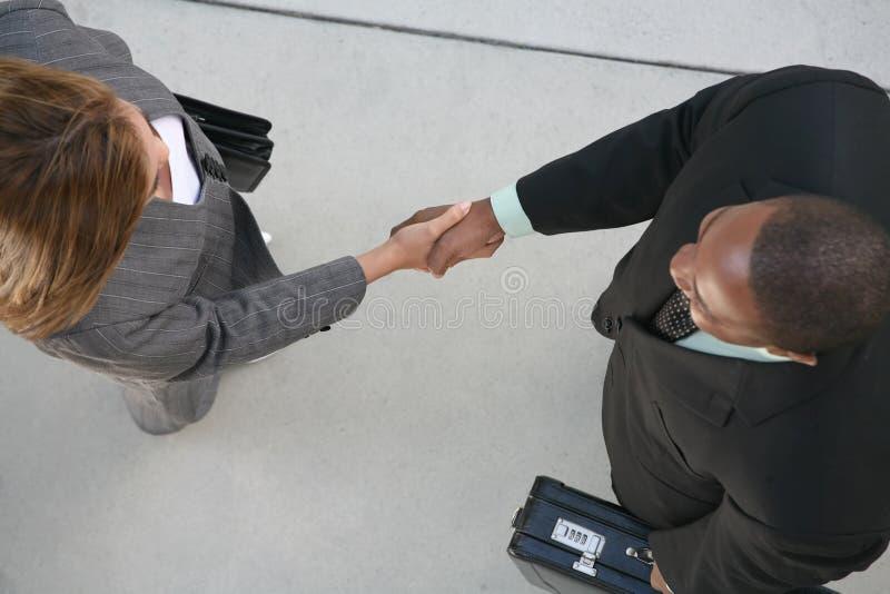 överenskommelseaffär arkivfoto