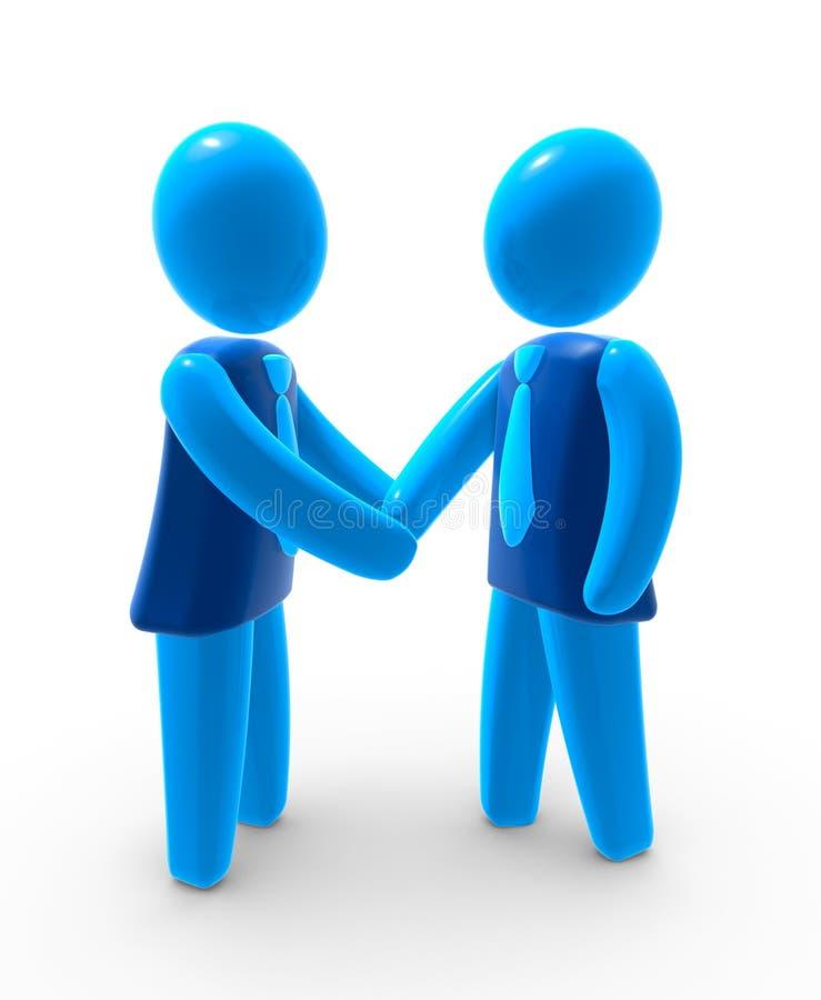 överenskommelseaffär stock illustrationer