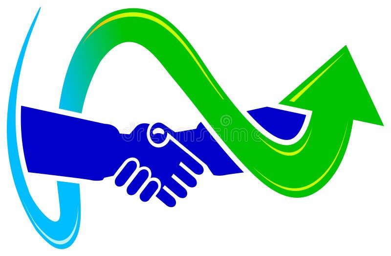 överenskommelsedesignlogo royaltyfri illustrationer