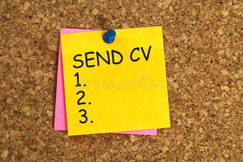 Överför klibbigt CV royaltyfri fotografi