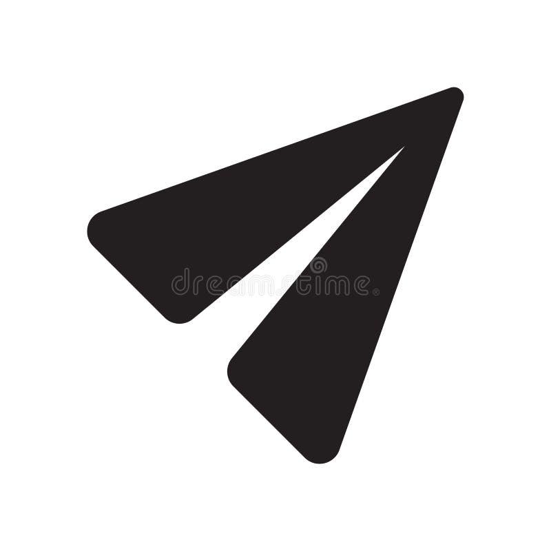 Överför symbolsvektortecknet, och symbolet som isoleras på vit bakgrund, överför logobegrepp stock illustrationer