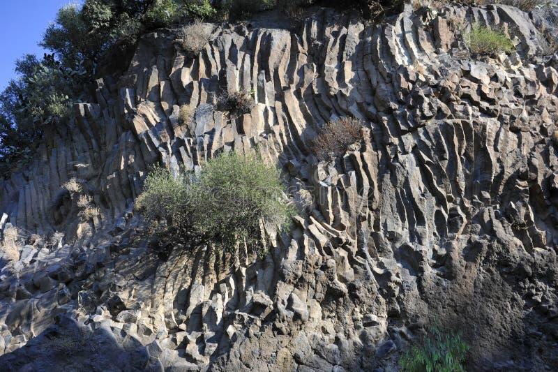 överförde till fast form etna lavalager royaltyfri foto