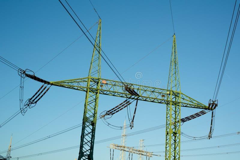 Överföring av electricit royaltyfri bild