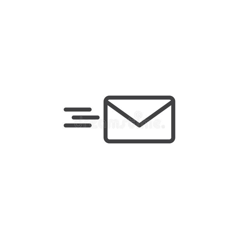 Överföring av postöversiktssymbolen vektor illustrationer