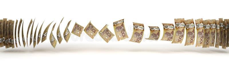 Överföring för kanadensisk dollar royaltyfri illustrationer